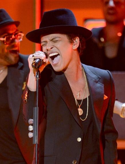 Bruno Mars en el homenaje a Bob Marley de los Premios Grammy 2013. FOTO: Kevin Winter/WireImage.com